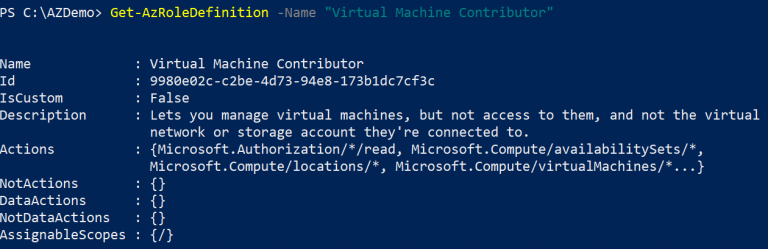 How To Create a Custom Azure Role in PowerShell