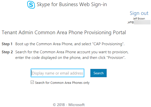 Skype for Business Online: Common Area Phone Overview