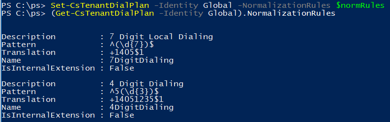 Skype for Business Online – Update Normalization Rules Using PowerShell