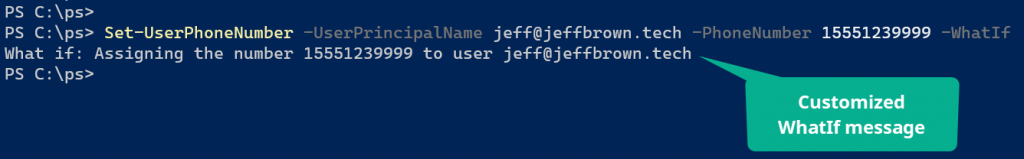 powershell whatif shouldprocess